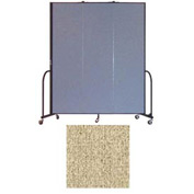 "Screenflex 3 Panel Portable Room Divider, 7'4""H x 5'9""L, Vinyl Color: Sandalwood"