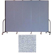 "Screenflex 5 Panel Portable Room Divider, 7'4""H x 9'5""L, Vinyl Color: Blue Tide"