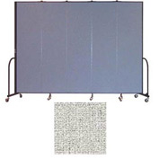 "Screenflex 5 Panel Portable Room Divider, 7'4""H x 9'5""L, Vinyl Color: Granite"
