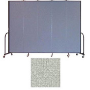 "Screenflex 5 Panel Portable Room Divider, 7'4""H x 9'5""L, Vinyl Color: Mint"