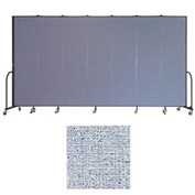 "Screenflex 7 Panel Portable Room Divider, 7'4""H x 13'1""L, Vinyl Color: Blue Tide"
