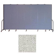 "Screenflex 7 Panel Portable Room Divider, 7'4""H x 13'1""L, Vinyl Color: Granite"