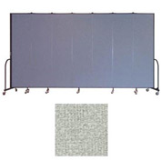 "Screenflex 7 Panel Portable Room Divider, 7'4""H x 13'1""L, Vinyl Color: Mint"