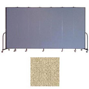 "Screenflex 7 Panel Portable Room Divider, 7'4""H x 13'1""L, Vinyl Color: Sandalwood"