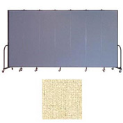 "Screenflex 7 Panel Portable Room Divider, 7'4""H x 13'1""L, Vinyl Color: Hazelnut"