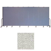 "Screenflex 9 Panel Portable Room Divider, 7'4""H x 16'9""L, Vinyl Color: Granite"