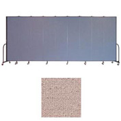 "Screenflex 9 Panel Portable Room Divider, 7'4""H x 16'9""L, Vinyl Color: Raspberry Mist"