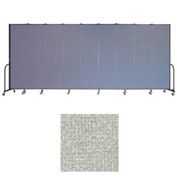 "Screenflex 9 Panel Portable Room Divider, 7'4""H x 16'9""L, Vinyl Color: Mint"