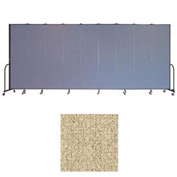"Screenflex 9 Panel Portable Room Divider, 7'4""H x 16'9""L, Vinyl Color: Sandalwood"