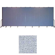 "Screenflex 11 Panel Portable Room Divider, 8'H x 20'5""L, Vinyl Color: Blue Tide"