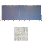"Screenflex 11 Panel Portable Room Divider, 8'H x 20'5""L, Vinyl Color: Granite"