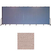 "Screenflex 11 Panel Portable Room Divider, 8'H x 20'5""L, Vinyl Color: Raspberry Mist"