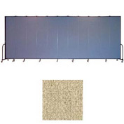 "Screenflex 11 Panel Portable Room Divider, 8'H x 20'5""L, Vinyl Color: Sandalwood"
