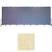"Screenflex 11 Panel Portable Room Divider, 8'H x 20'5""L, Vinyl Color: Hazelnut"
