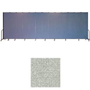 "Screenflex 13 Panel Portable Room Divider, 8'H x 24'1""L, Vinyl Color: Mint"