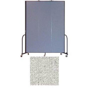 "Screenflex 3 Panel Portable Room Divider, 8'H x 5'9""L, Vinyl Color: Granite"
