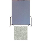 "Screenflex 3 Panel Portable Room Divider, 8'H x 5'9""L, Vinyl Color: Mint"