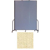 "Screenflex 3 Panel Portable Room Divider, 8'H x 5'9""L, Vinyl Color: Hazelnut"