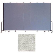 "Screenflex 7 Panel Portable Room Divider, 8'H x 13'1""L, Vinyl Color: Granite"