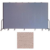 "Screenflex 7 Panel Portable Room Divider, 8'H x 13'1""L, Vinyl Color: Raspberry Mist"