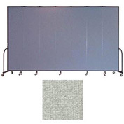 "Screenflex 7 Panel Portable Room Divider, 8'H x 13'1""L, Vinyl Color: Mint"