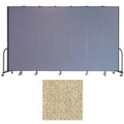 "Screenflex 7 Panel Portable Room Divider, 8'H x 13'1""L, Vinyl Color: Sandalwood"