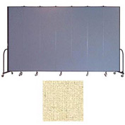 "Screenflex 7 Panel Portable Room Divider, 8'H x 13'1""L, Vinyl Color: Hazelnut"