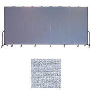 "Screenflex 9 Panel Portable Room Divider, 8'H x 16'9""L, Vinyl Color: Blue Tide"