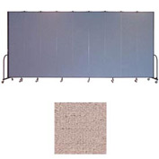 "Screenflex 9 Panel Portable Room Divider, 8'H x 16'9""L, Vinyl Color: Raspberry Mist"