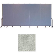 "Screenflex 9 Panel Portable Room Divider, 8'H x 16'9""L, Vinyl Color: Mint"