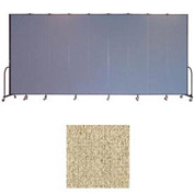 "Screenflex 9 Panel Portable Room Divider, 8'H x 16'9""L, Vinyl Color: Sandalwood"