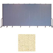 "Screenflex 9 Panel Portable Room Divider, 8'H x 16'9""L, Vinyl Color: Hazelnut"
