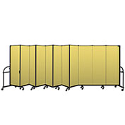 "Screenflex 11 Panel Heavy Duty Portable Room Divider - 6'H x 20' 5""L - Fabric Color: Yellow"