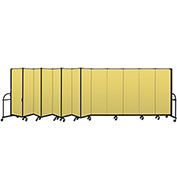 "Screenflex 13 Panel Heavy Duty Portable Room Divider - 6'H x 24' 1""L - Fabric Color: Yellow"
