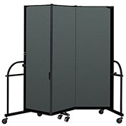 "Screenflex 3 Panel Heavy Duty Portable Room Divider - 6'H x 5' 9""L - Fabric Color: Mallard"