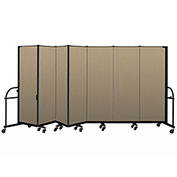 "Screenflex 7 Panel Heavy Duty Portable Room Divider - 6'H x 13' 1""L - Fabric Color: Desert"