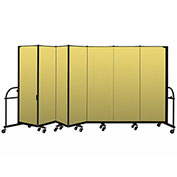 "Screenflex 7 Panel Heavy Duty Portable Room Divider - 6'H x 13' 1""L - Fabric Color: Yellow"