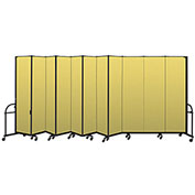 "Screenflex 11 Panel Heavy Duty Portable Room Divider - 7'4""H x 20'5""L - Fabric Color: Yellow"