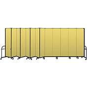 "Screenflex 13 Panel Heavy Duty Portable Room Divider - 7'4""H x 24'1""L - Fabric Color: Yellow"