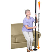 Stander™ 1150-B Security Pole, Black