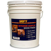 Saversystems 300077 DEFY Interior Clear Wood Finish Satin 5gal