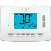 Supco 71157P Programmable Digital Wall Thermostat 1 Heat 1 Cool