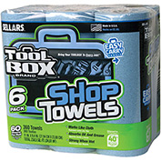 Sellars® Toolbox® Z400 Blue Shop Towel- 6-Pack, 60 Sheets/Roll, 4 (6-Packs)/Case 54416