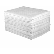 "Sellars® Oil Only Light Weight Sorbent Pads, 16 Gallon Capacity, 15"" x 18"", 100 Pads/Bag"