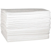 "Sellars® Oil Only Medium Weight Sorbent Pads, 19 Gallon Capacity, 15"" x 18"", 100 Pads/Bag"