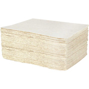 "DuraSoak™ Oil Only Light-Duty Absorbent Pads, 18 Gallon Capacity, 15"" x 19"", 100 Pads/Case"