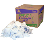 Sellars® Reclaimed Rags - White Fleece, 50 Lbs. 99204