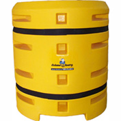"Column Sentry® Column Protector, 18""x 18"" Square Opening, 38"" O.D. x 42""H, Yellow"