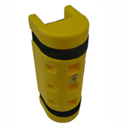 "Rack Sentry® Rack Protector, 4"" x 3"" Opening, 18""H, Yellow"