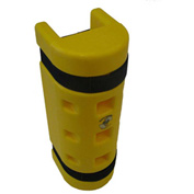 "Rack Sentry® Rack Protector, 4-3/4"" x 3"" Opening, 18""H, Yellow"